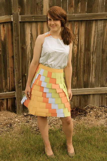 Shower Curtain And Post It Notes ABC Dress