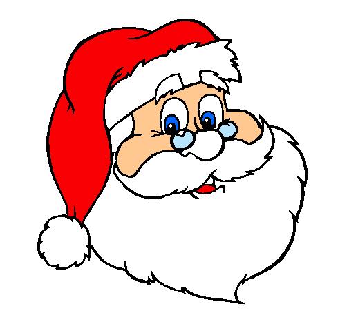 Dibujo De Cara De Papá Noel Pintado Por Chemanuel En Dibujos Net Santa Decal Christmas Coloring Pages Santa Face