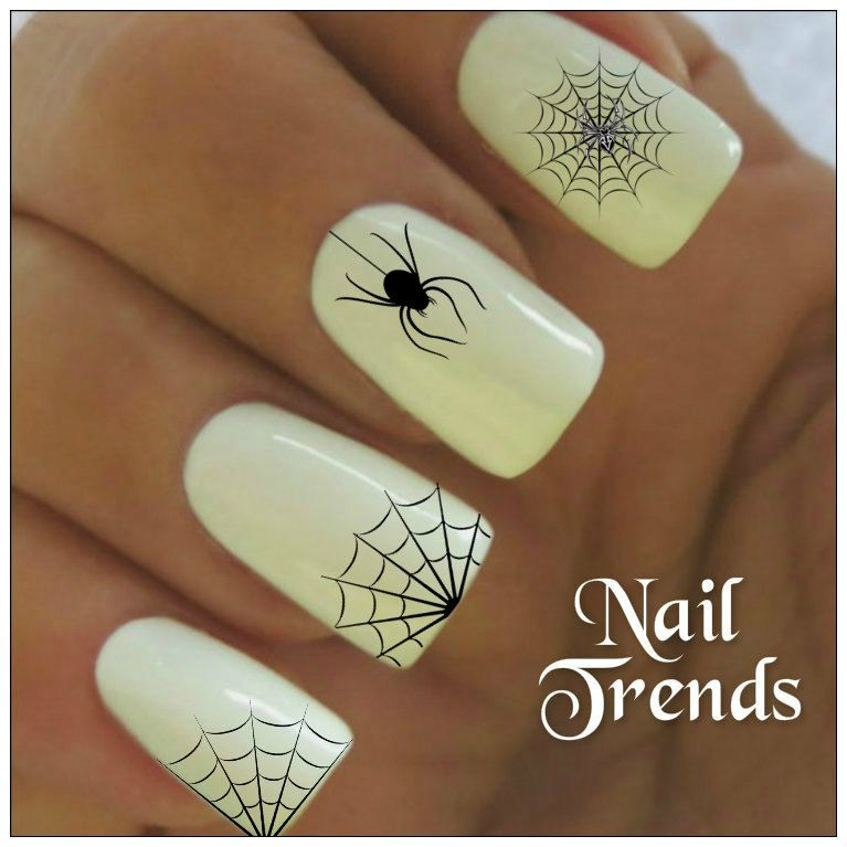 Spider Nail Decal 20 Vinyl Adhesive Decals Halloween Nail Tattoos ...