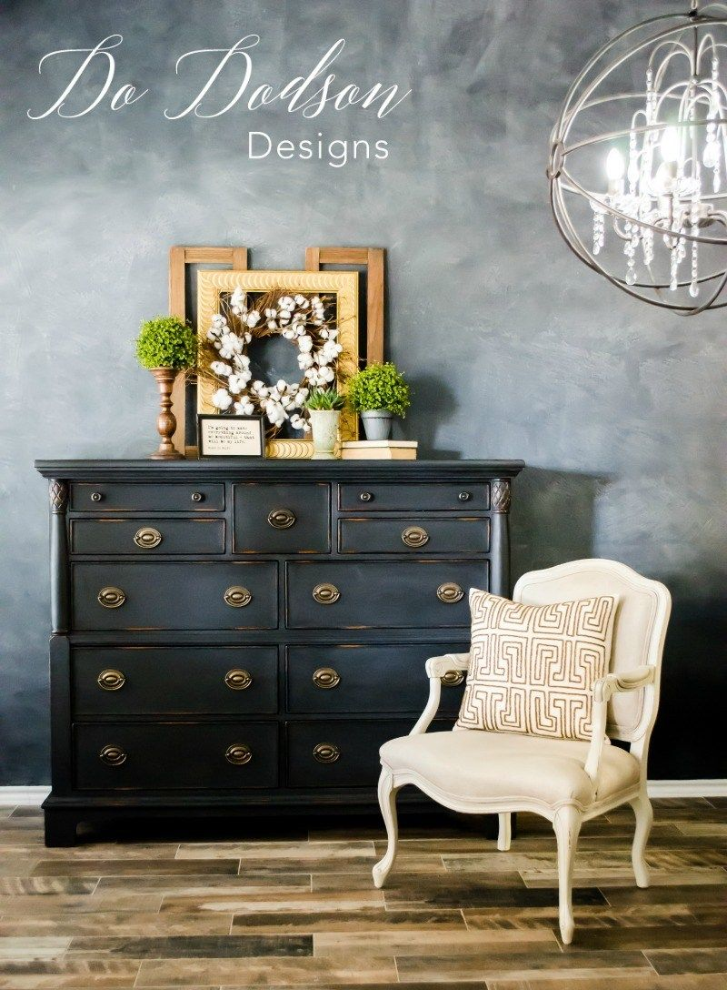 distressed black furniture that will give you inspiration chalk rh pinterest com