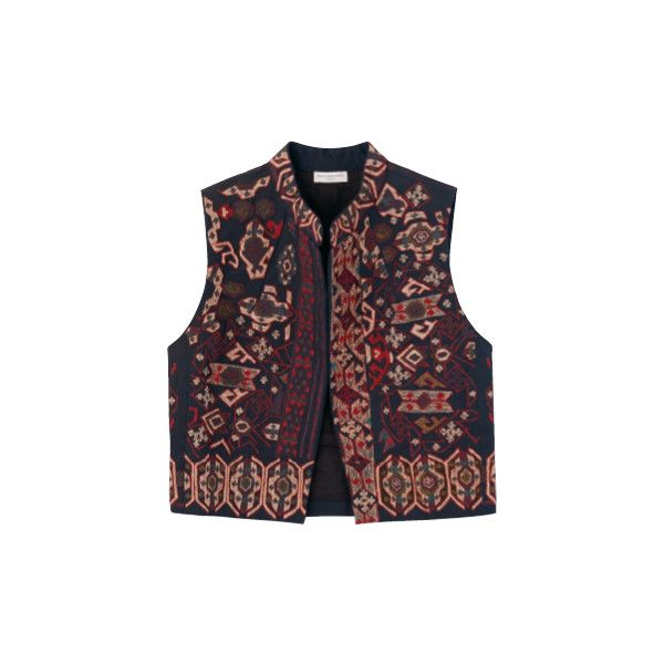VOGUE FASHION ITEM SEARCH ❤ liked on Polyvore featuring outerwear, vests, jackets, coats & jackets, tops and vest waistcoat
