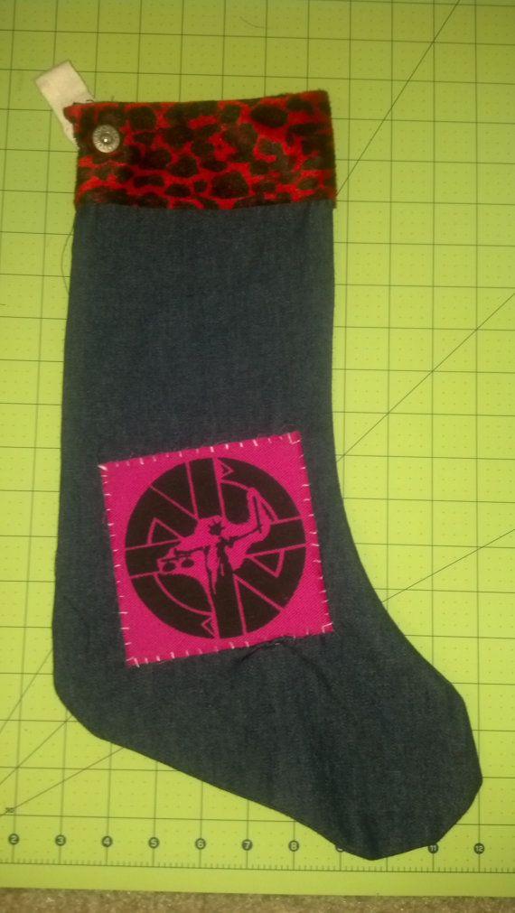 Custom Made Punk Rock Christmas Stockings