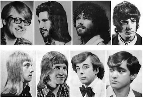 A Collection Of Men S Hairstyles From The 1970s Mens Hairstyles 1970s Hairstyles Hair Styles