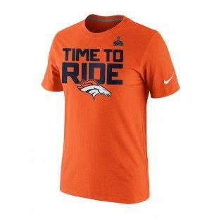 0ec9333bb Denver Broncos Nike NFL 2014 Super Bowl Time To Ride T-Shirt (Orange ...