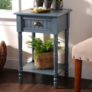 Best Blue Beadboard Accent Table Small Accent Tables 400 x 300