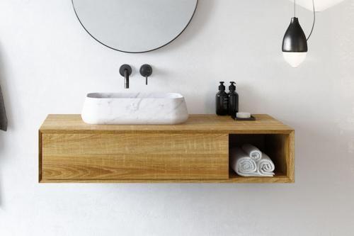 Waschtischunterschrank Apelia Eiche Natur 1 Schublade Spa