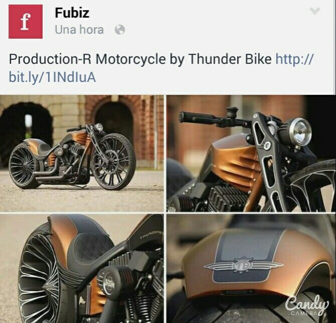 Production-R Motorcycle by Thunder Bike