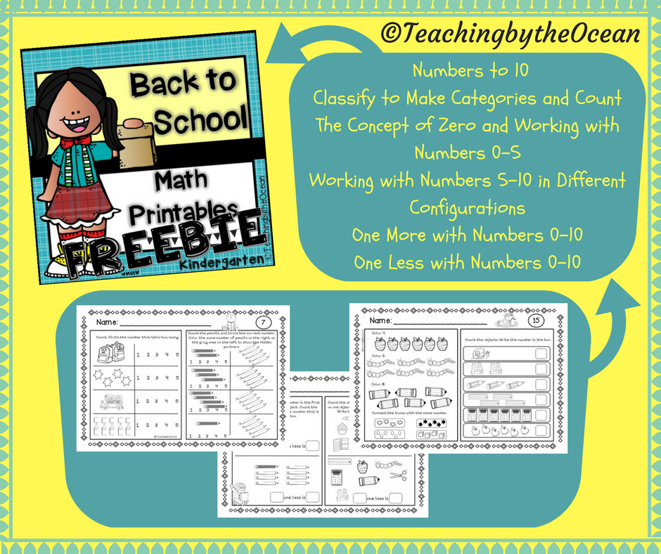 This is a sample of my Back to School Kindergarten Math Printables ...