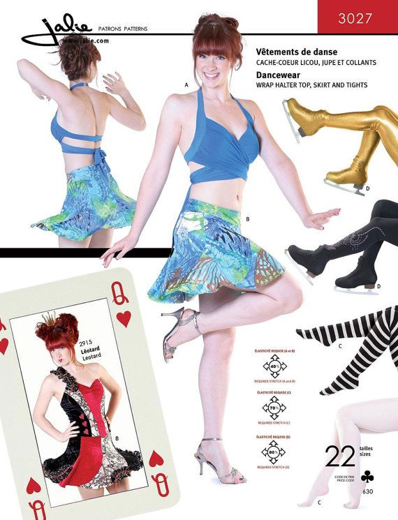 Jalie Wrap Halter Top, Skirt & Tights Dancewear Sewing Pattern ...