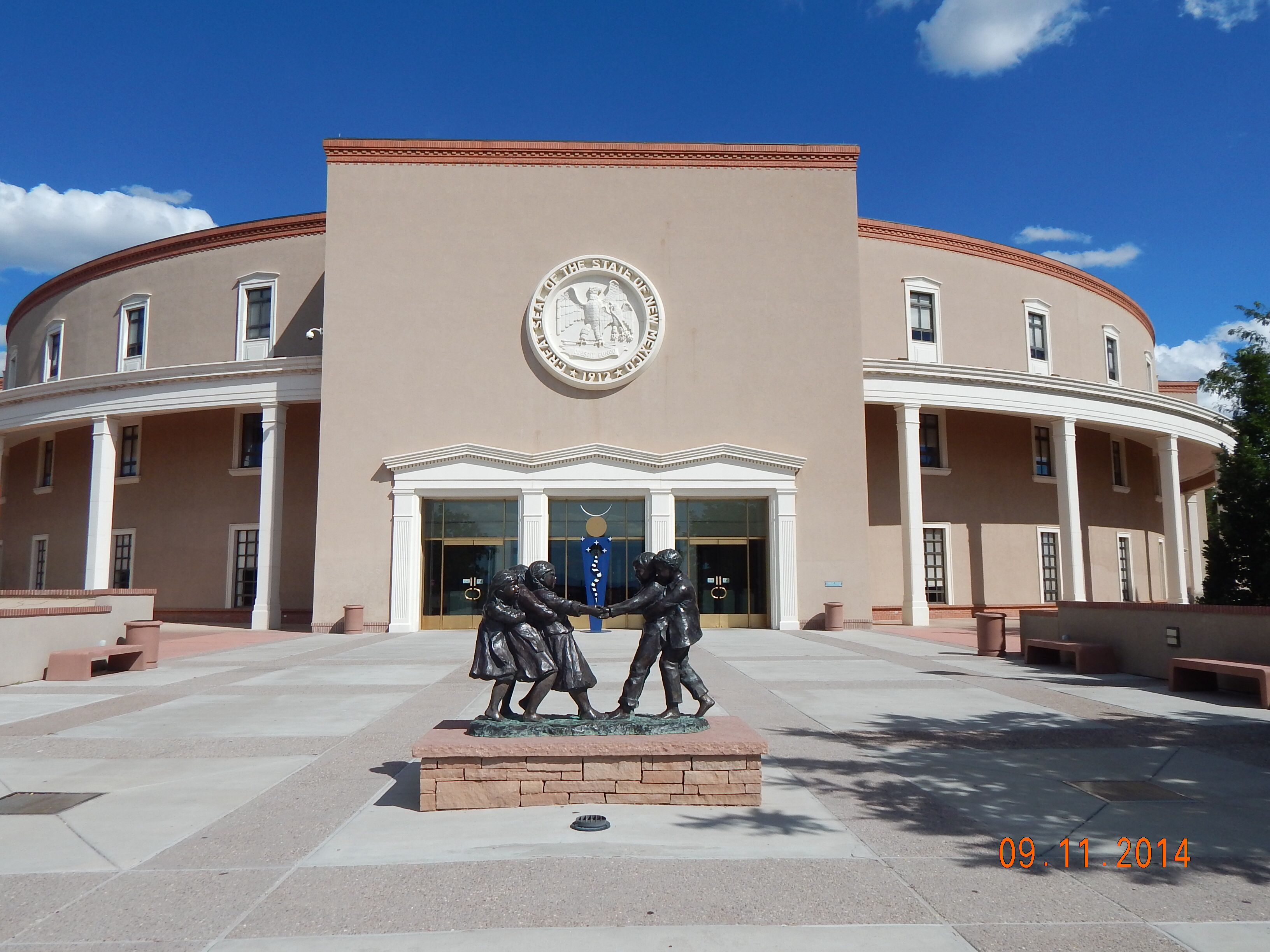 New Mexico state Capitol in Sante Fe. The only round