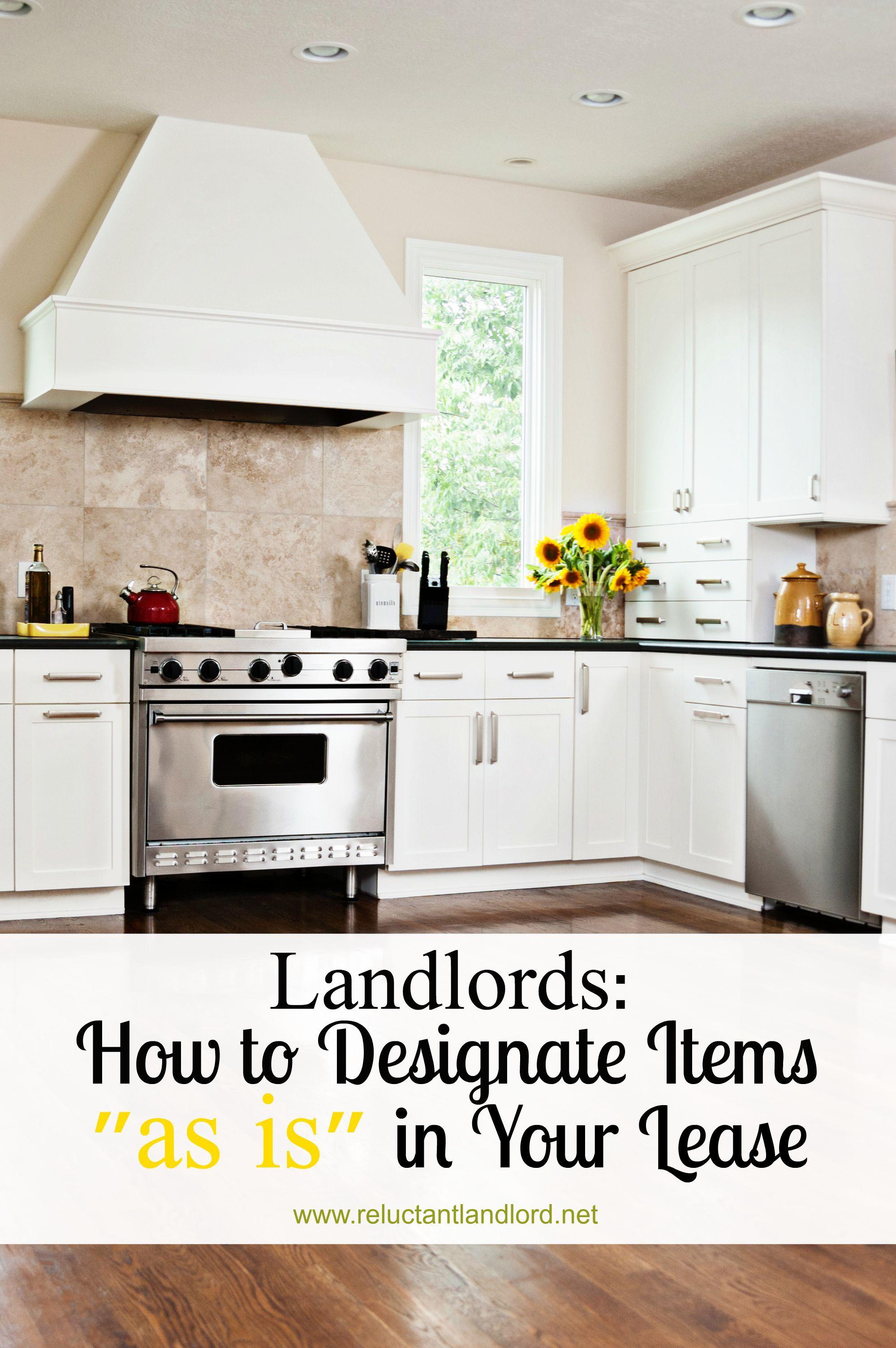 Landlords: How to Designate Items \