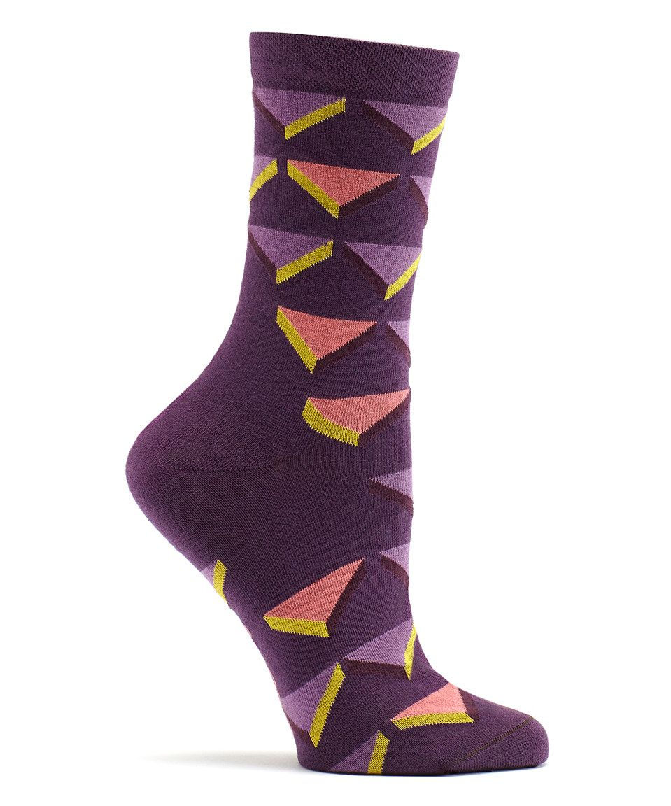 This Eggplant Triforce Socks by Ozone is perfect! #zulilyfinds