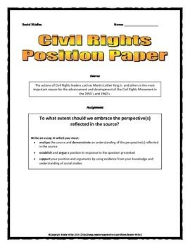 civil rights movement position paper essay rubric civil rights movement position paper essay rubric