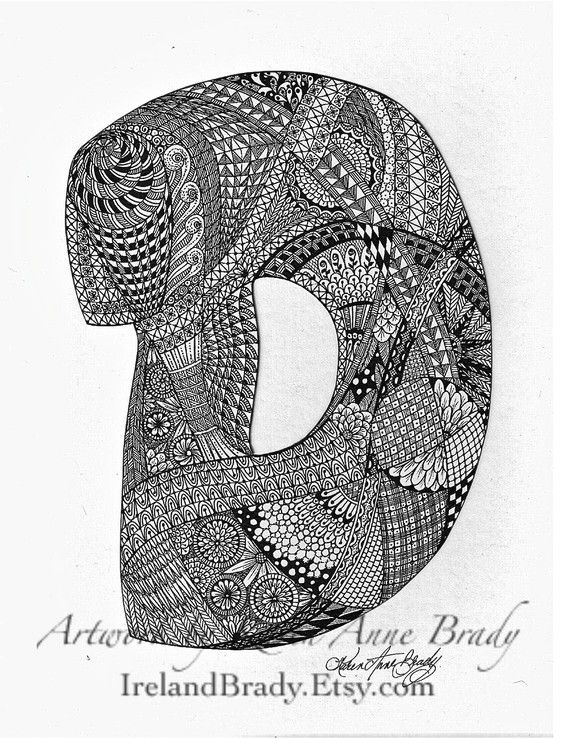 Aceo alphabet letter d zentangle doodle initial monogram art print aceo alphabet letter d zentangle doodle initial monogram art print by karen anne brady thecheapjerseys Choice Image