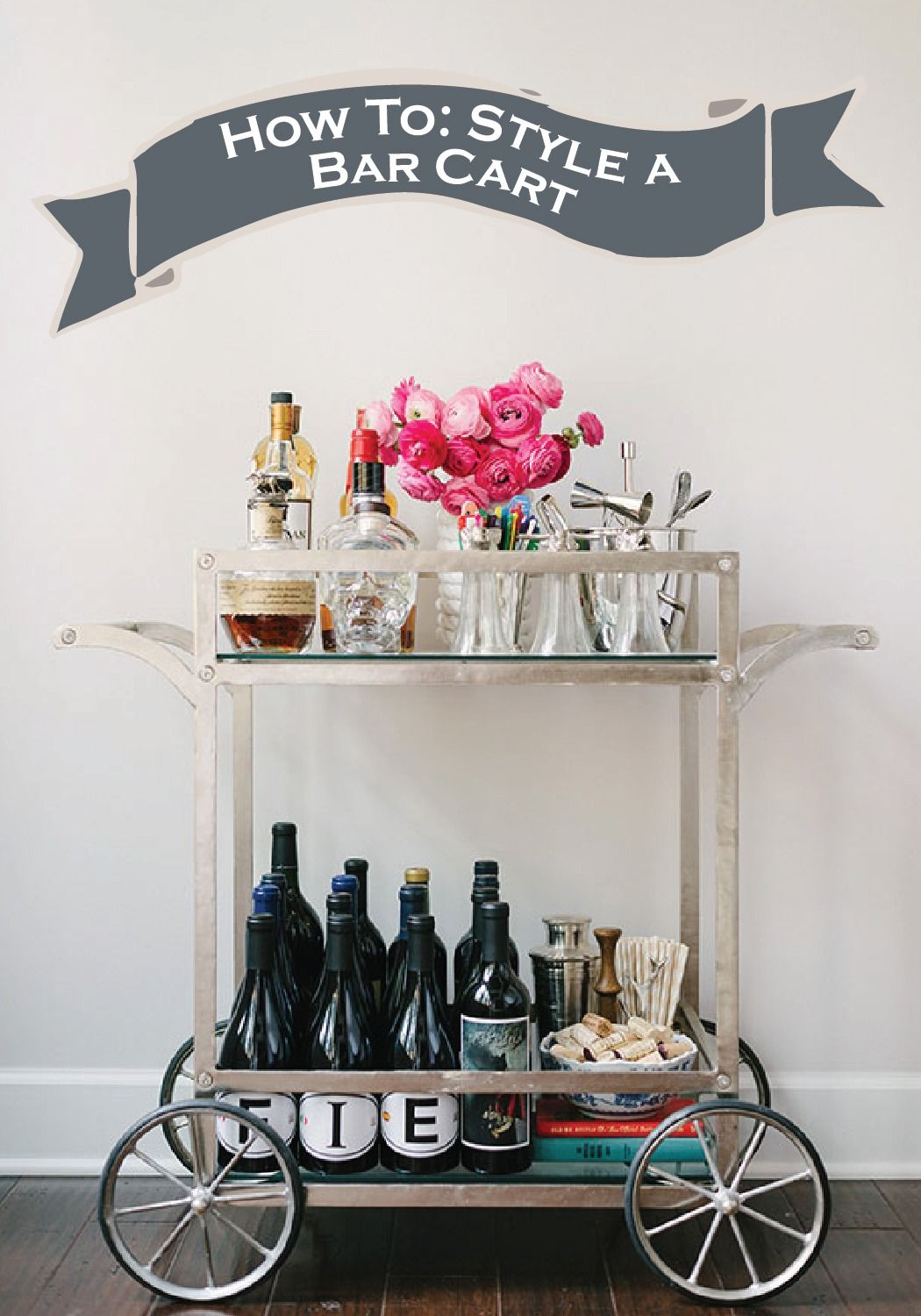 A bar cart that will impress your guests photo