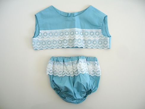 vintage baby girl beach outfit...