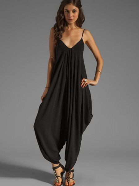 Charming Pleated Jumpsuit - Styles by She