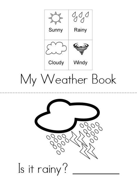 What's the weather Mini Book? from TwistyNoodle.com