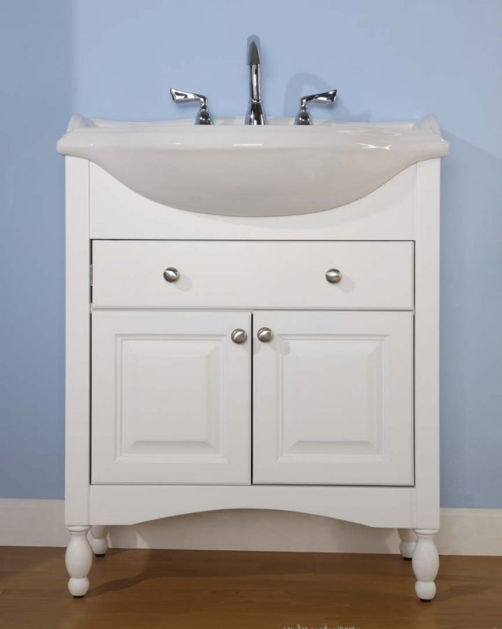 The Narrow Depth Of This Single Vanity Makes It A Great Choice For Glamorous Narrow Depth Bathroom Vanity Inspiration Design
