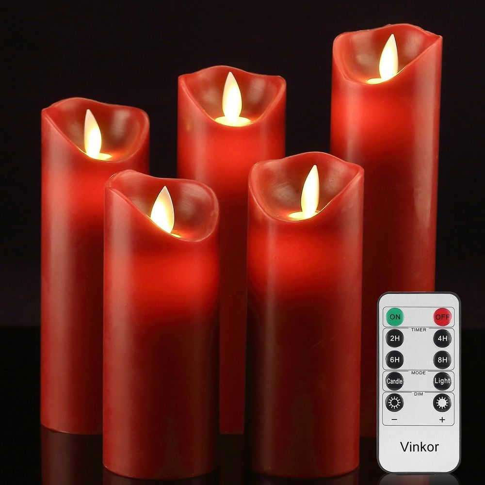 Luminara moving wick flameless candle set of candle with key