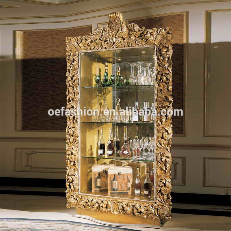 Oe Fashion Antique Wood Carving Gold Color Wine Cabinet For Home Furniture View Antique Wine Bar Cabinet Oe Fashion Product Details From Foshan Oe Fashion Fur Glass Cabinet Doors Wine Cabinets How To Antique