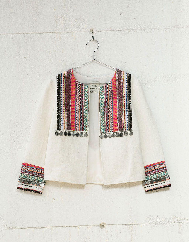 Blazer bordado étnico - Blazers - Bershka España   Hmong   Pinterest ...
