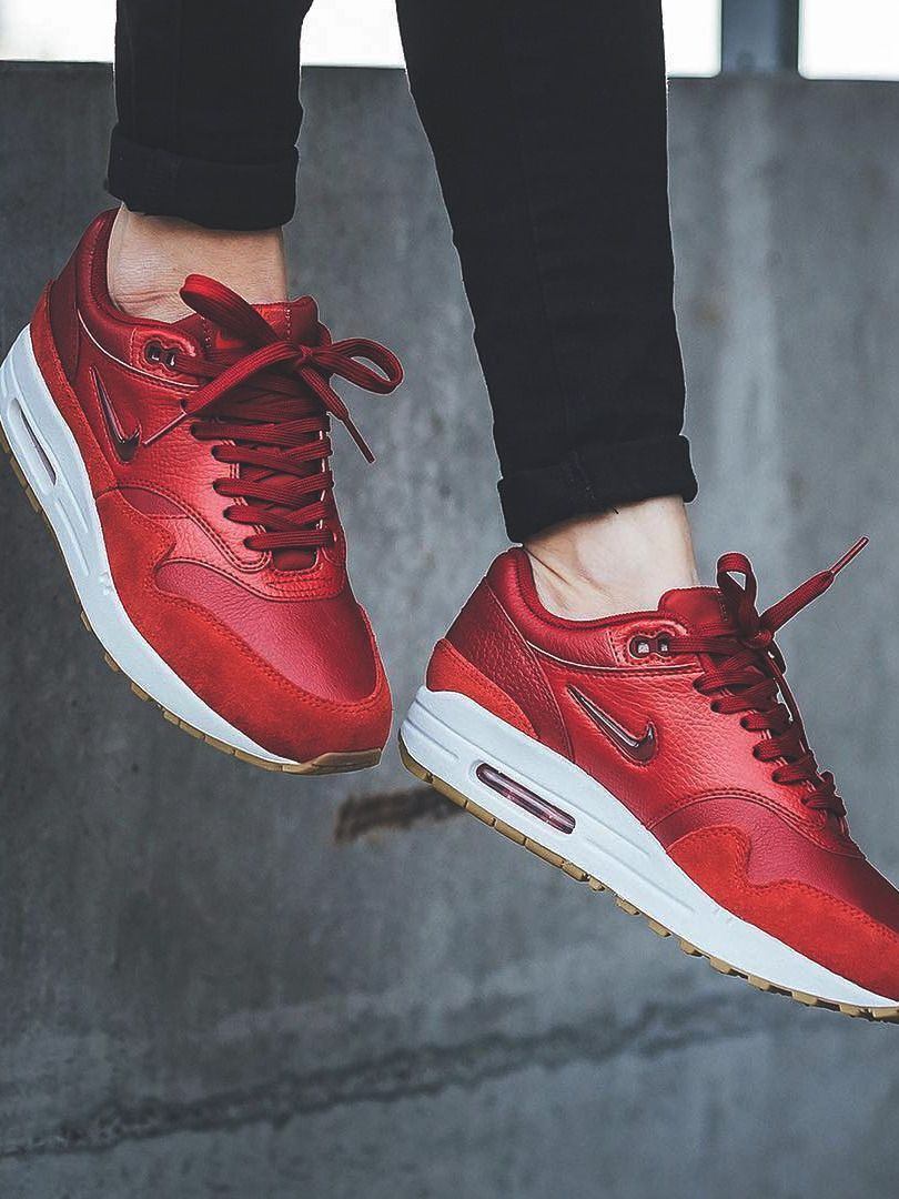 Nike wmns Air Max 1 Jewel Gym Red 2018 (by titolo