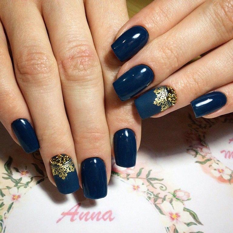 Ideas de manicura en tonos azul Nail art Pinterest Ideas de