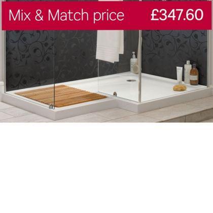 Aqualux Sapphire L Shape Shower Tray Lh Bathroom