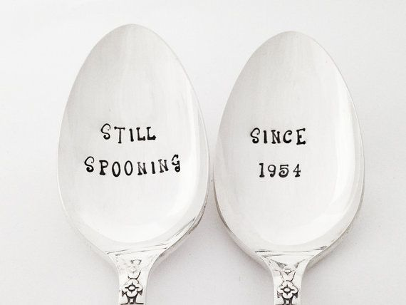 60 Years Wedding Anniversary Gifts: 60th Still Spooning™ Since 1955 Wedding Anniversary