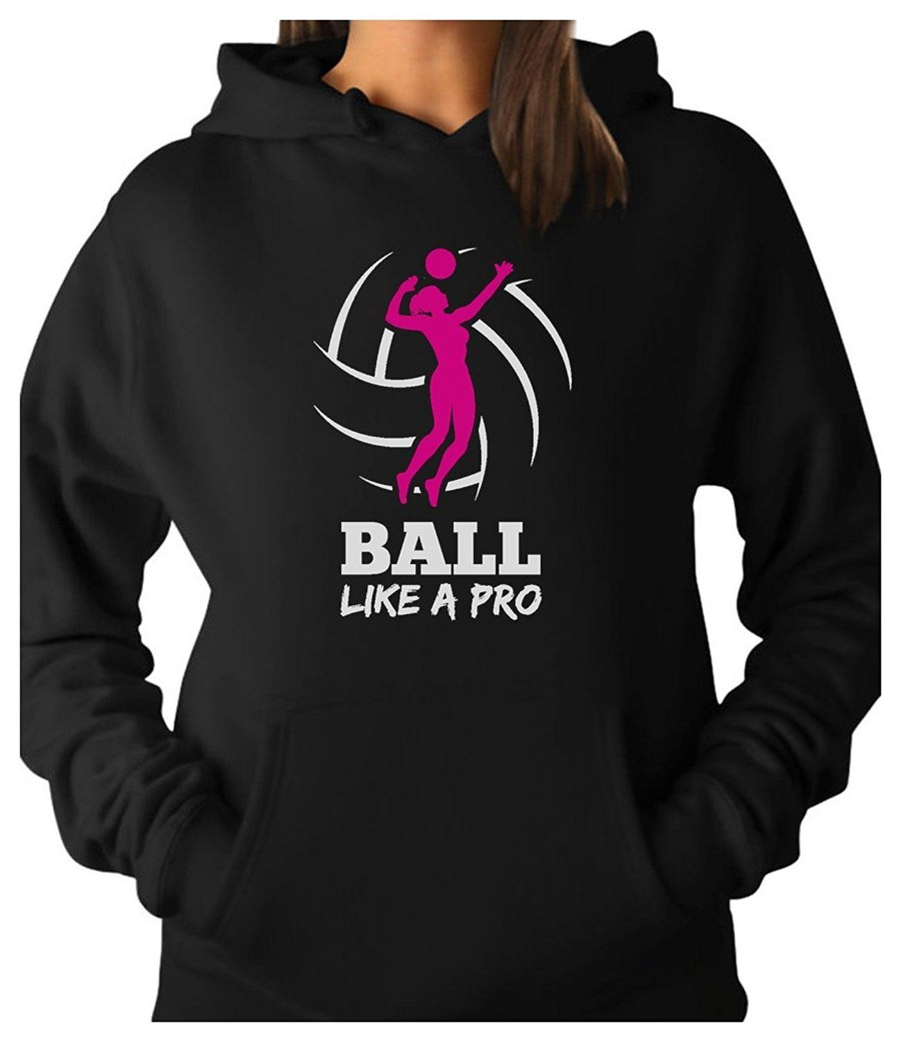 Teestars Women S Volleyball Player Ball Like A Pro Best Gift Women Hoodie Check Out The Image By Visiting The L Hoodies Womens Hoodies Sweatshirts Women