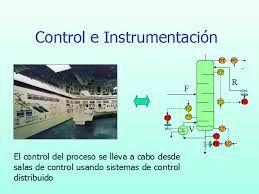 Resultado de imagen para control e instrumentación de procesos químicos