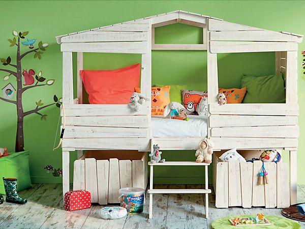 lit cabane pour enfant style bois en solde chez alinea kids rooms antique bedroom - Alinea Lit Enfant