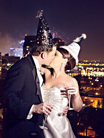 Glamorous New Year's Eve Wedding (Shimmering Silver Gray Dress)