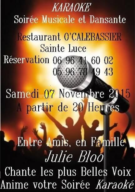 Karaoké Soirée Musicale et Dansante #agenda #sortie #martinique #soiree #Antilles #domtom #outremer #concert