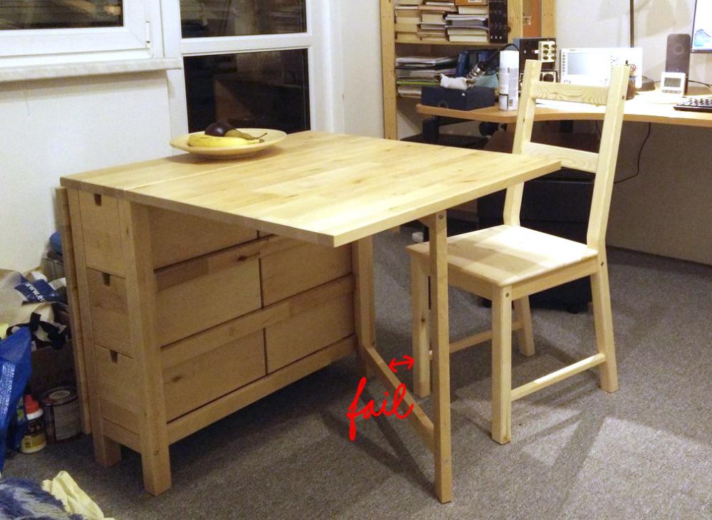 Improving The Norden Gateleg Table Ondrovo Com Ikea Tiny Furniture