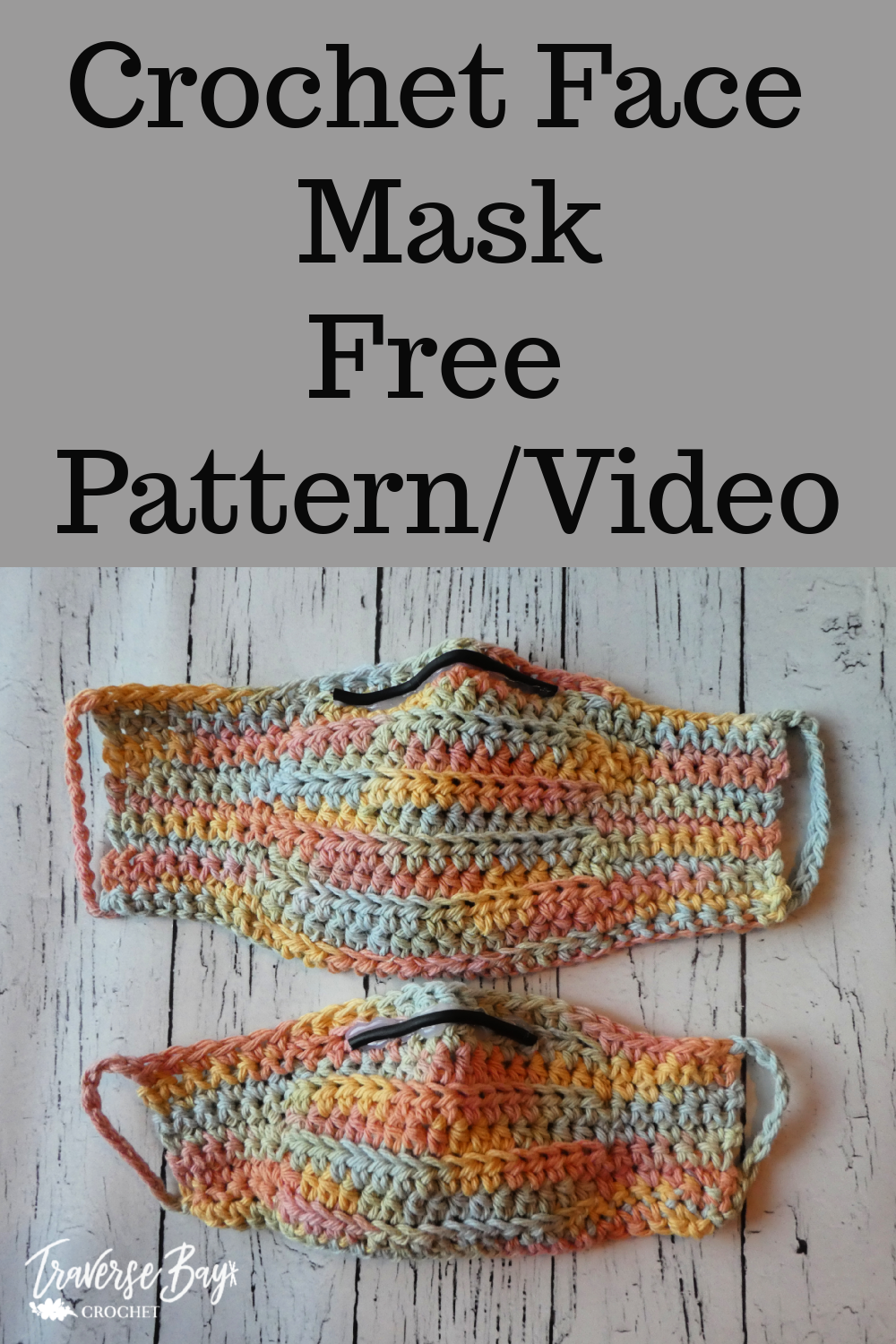 Photo of DIY crochet face mask free pattern