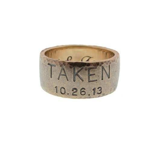 mens 14k gold duck band ring 8mm taken wedding ring bridal jewelry for him - Duck Band Wedding Rings