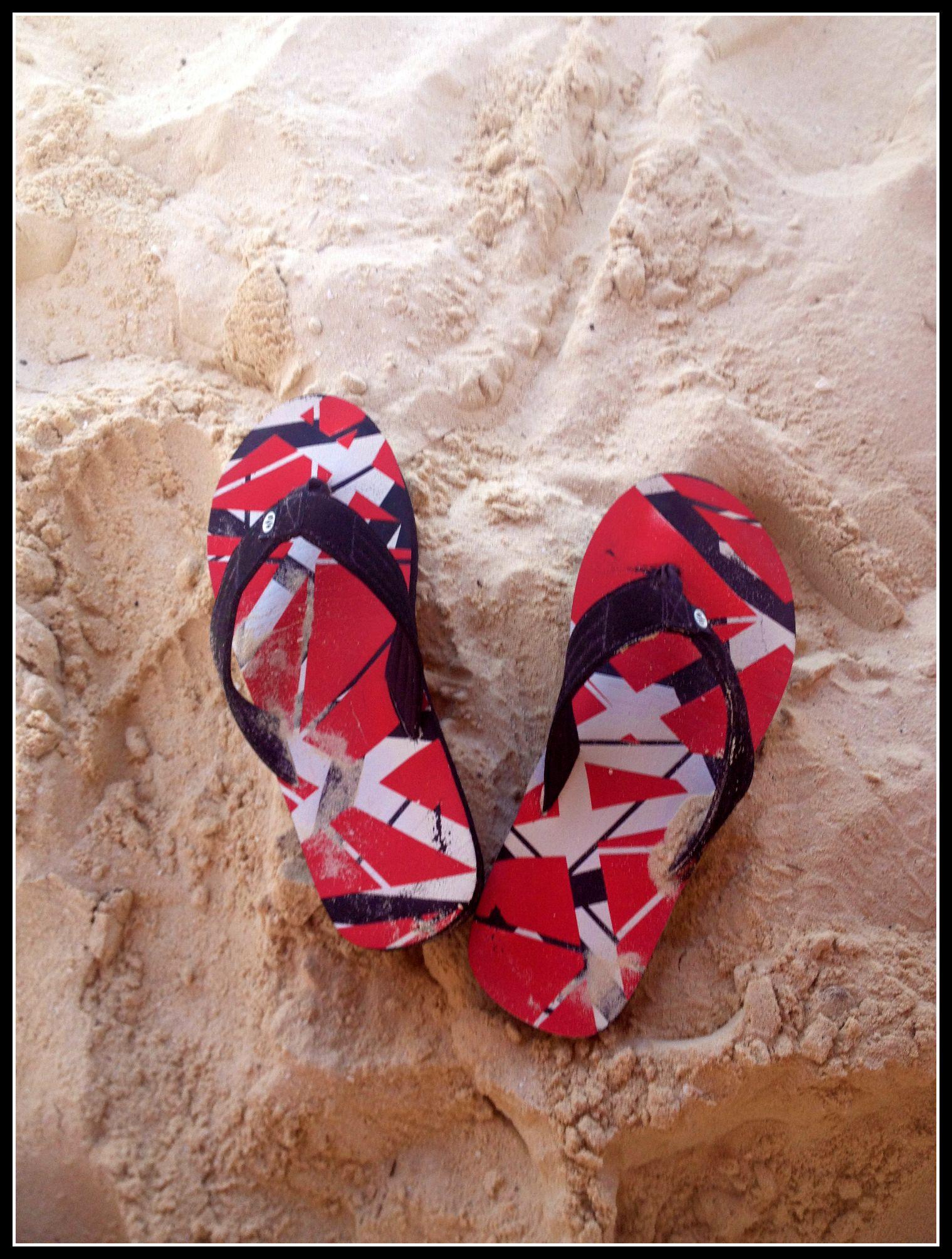 1d5b7008bbfa52 Beach Van Halen flip flops..