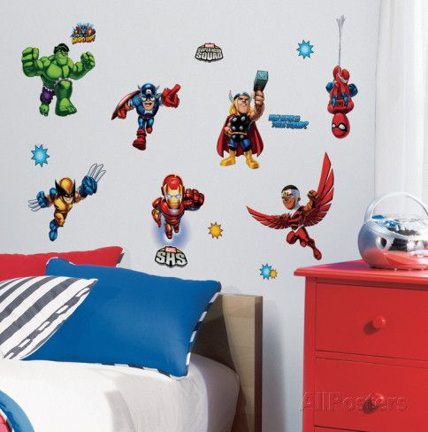 Marvel Super Hero Squad Peel U0026 Stick Wall Decals Wall Decal At  AllPosters.com