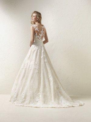 dracme: vestido de novia diseño princesa con pedrería - pronovias