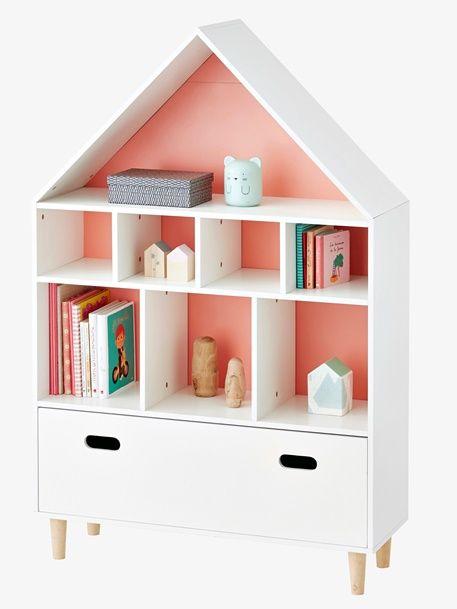 meuble de rangement maison 9 cases blancbleu 2