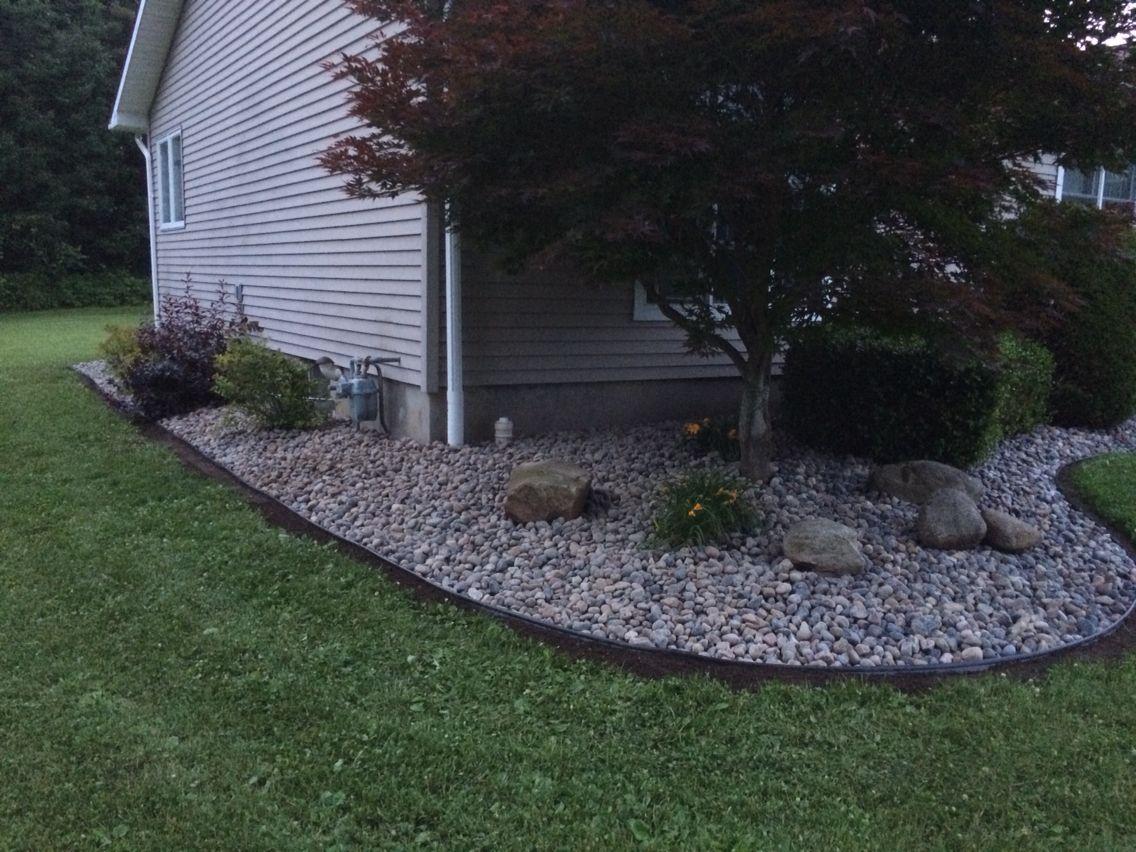 Attractive Design River Rock Garden Modest Ideas To