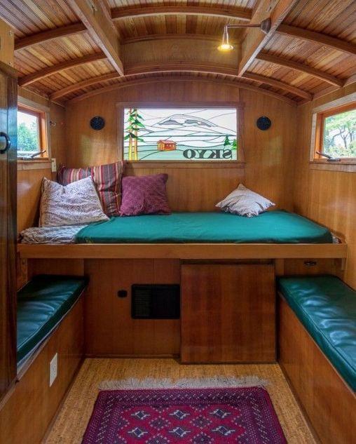 Shepherd Hut Floor Plans: Shepherds Hut Interior Plans Ideas For Holidays (56