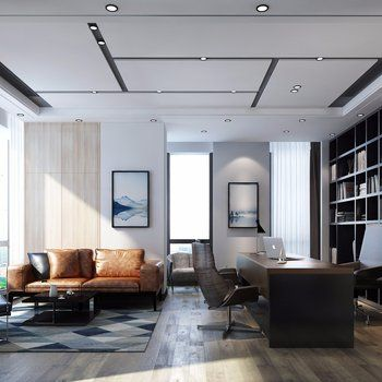 Office Interior Click To Get The Complete Design Ideas 3ds Max Models Download Max File Office Ceiling Design Private Office Design Office Interior Design