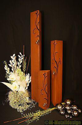 gartendeko edelstahl saule, säule set barocco edelrost rost romantik gartendeko garten edelstahl, Design ideen