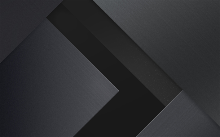 Download Wallpapers 4k Arrows Android Gray Nad Black Lollipop Lines Geometric Shapes Material Design Creative Geometry Dark Background Besthqwallpaper Material Design Dark Wallpaper Sports Graphic Design