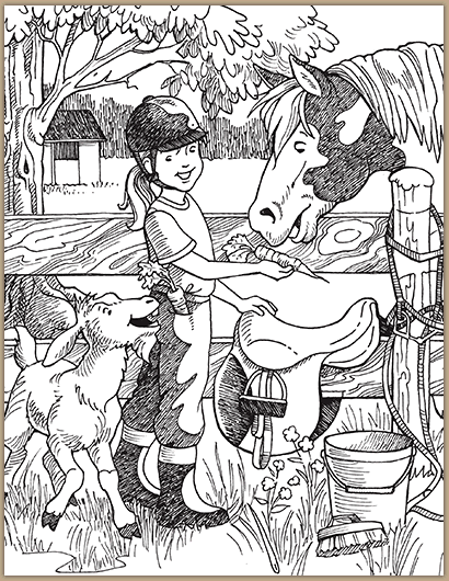 Sneaking A Carrot Classroom Highlights Com Horse Coloring Books Hidden Pictures Printables Hidden Picture Puzzles