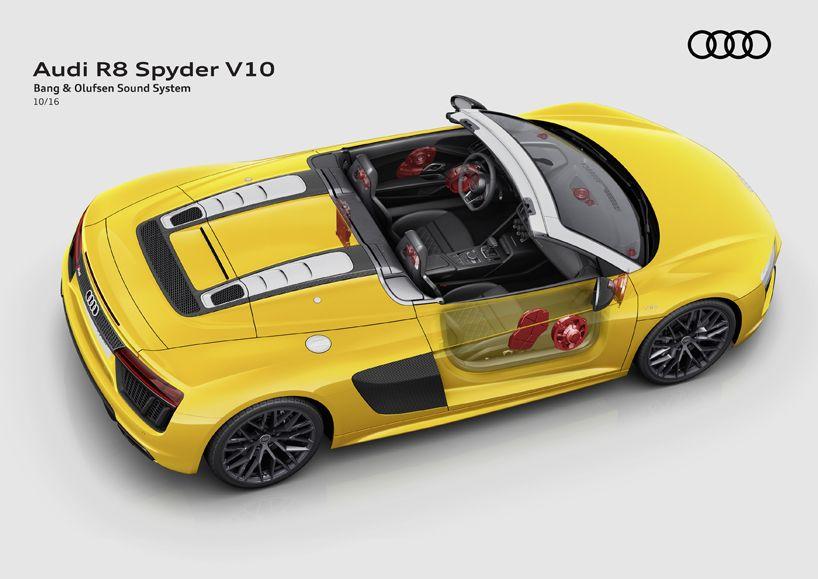 Audi R8 Spyder V10 Bang Olufsen Sound System Mapping Beauty In