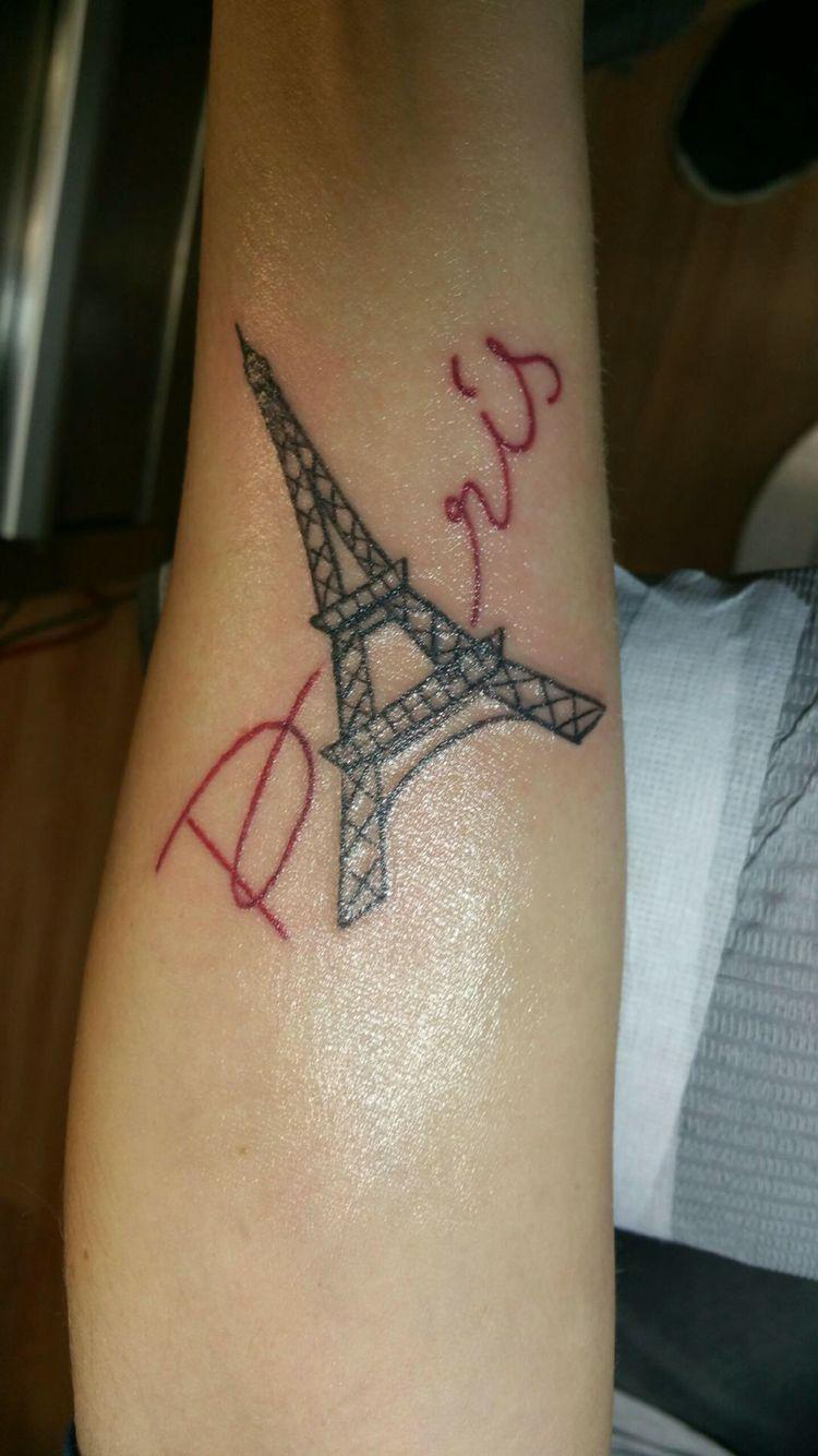 My New Paris Eiffel Tower Tattoo Paris Tattoo Eiffel Tower